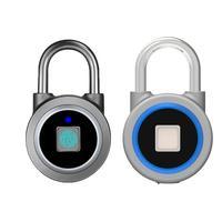Cadeado de impressão digital eletrônico inteligente cadeado casa locker anti roubo bloqueio de impressão digital portátil inteligente bloqueio de impressão digital|Trava elétrica|Segurança e Proteção -