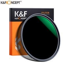 K & f conceito nd1000 filtro lente multi-resistente nano revestimento filtro densidade 49mm 52mm 58mm 62mm 67mm 72mm 77mm 82mm 95mm