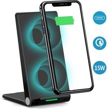 QI A10 vertical mobile phone desktop wireless charger vertical folding fast charge FOR: iphone Samsung Huawei xiaomi VIVO OPPO цена в Москве и Питере