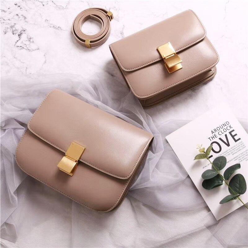 Женская сумка-бокс из натуральной кожи, брендовые дизайнерские классические женские сумки-мессенджеры через плечо