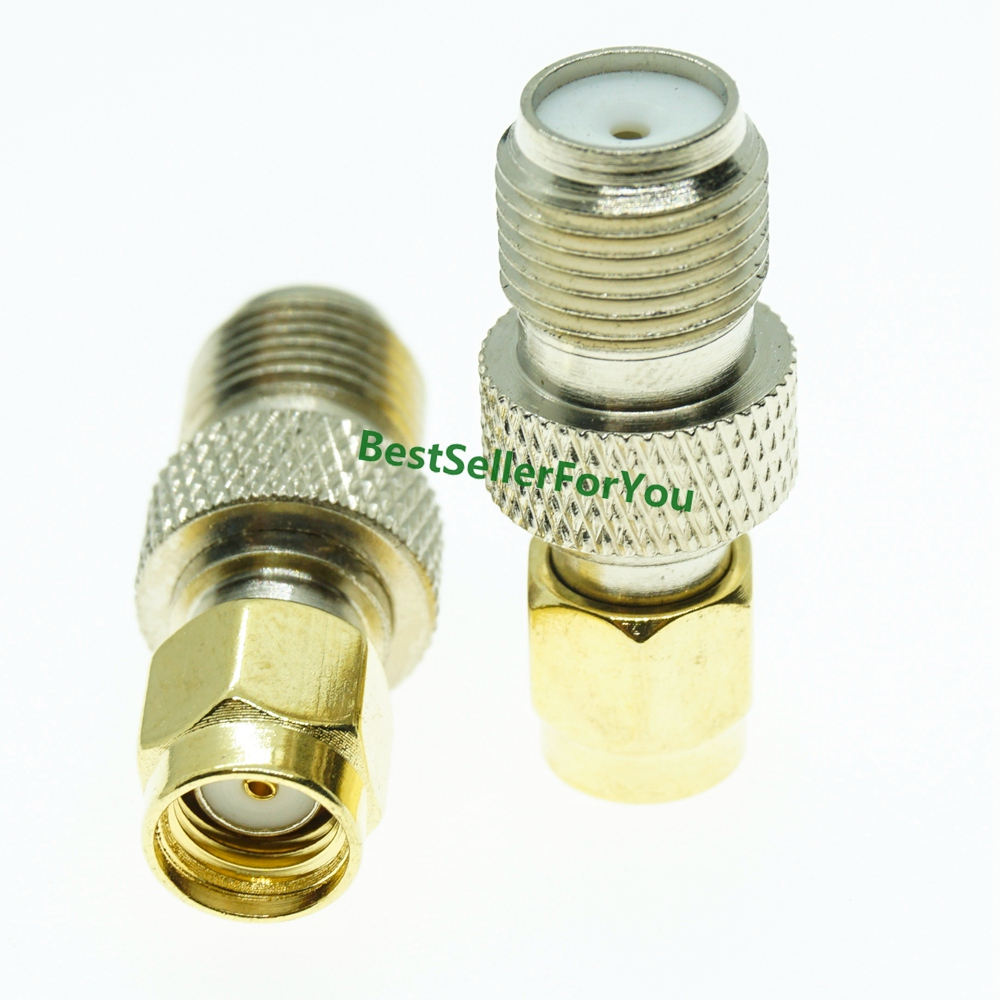 F Type Female Jack To RP-SMA Male Plug Center RF Coaxial Adapter Connector