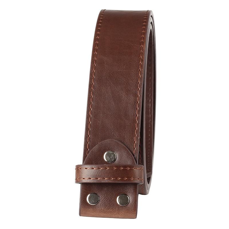 Men's PU Leather Belt Without Buckle Handmade Homemade Belt DIY Accessories 3.8cm D1