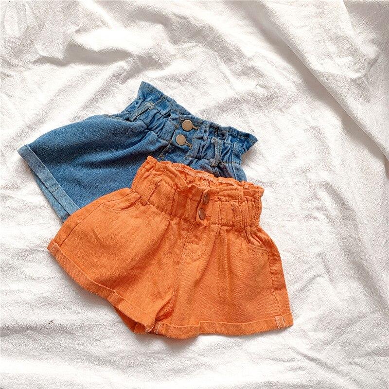 2020 Girl Summer  Kids Children Fashion Hot Jeans Denim Shorts Three Colors 2
