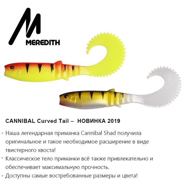 MEREDITH Cannibal Curved – Sirppipyrstöinen kalajigi 90mm ja 110mm