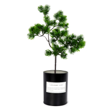 40cm Single Big Pine Green Branch Simulation Leaves Plant Welcoming Pine Bonsai Accessories Home Decoration Plant Fake Flower big new simulation green