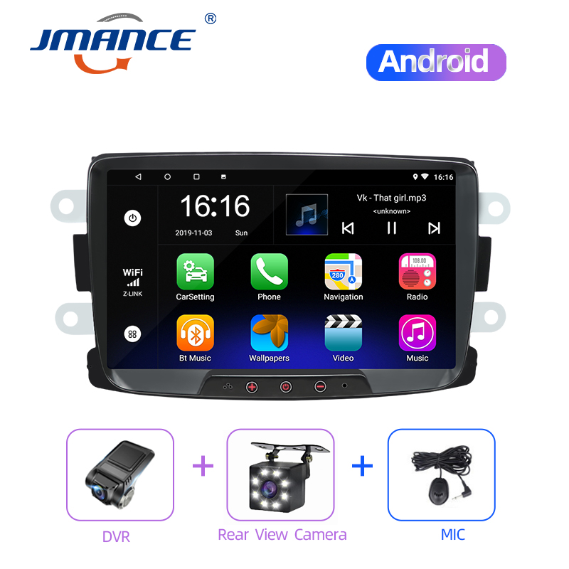 JMANCE Car Multimedia Player Android Radio Gps Navigation Video Music System For Renault Dacia/Duster/Sandero/Logan 2010-2015