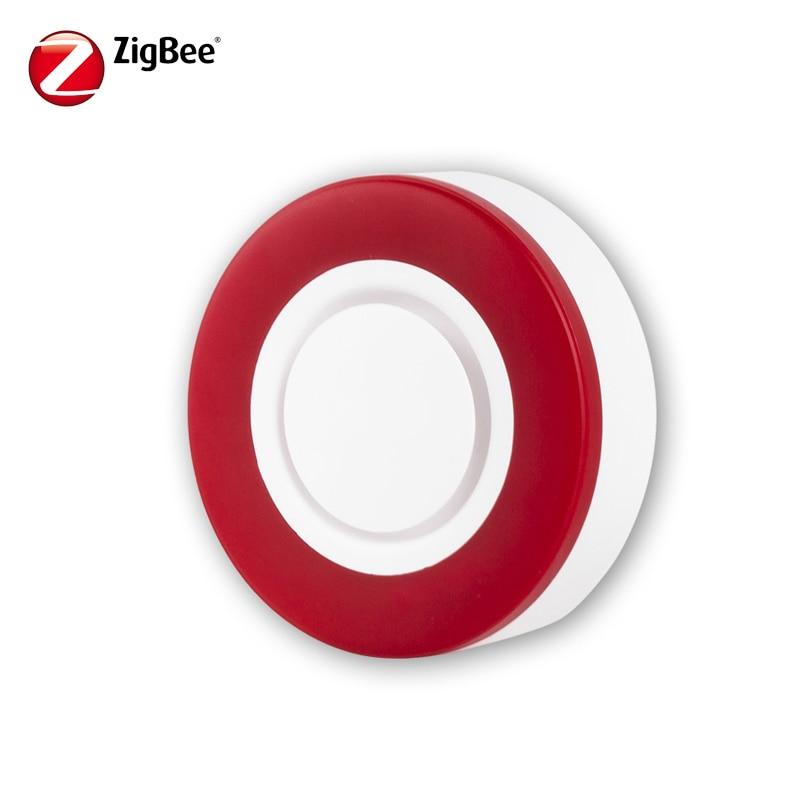 HEIMAN Zigbee Siren Alarm Sensor For Home Smart Device HA1.2 Smart Strobe Flash Siren Horn Alarm Sound  With 95DB Big Sounds