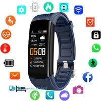 Reloj inteligente de moda para hombre y mujer, pulsera electrónica para Android IOS, FitnessTracker, compatible con Bluetooth