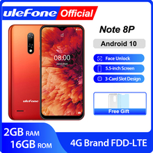 Ulefone Note 8P Smartphone Android 10 4G Celular Phone Water