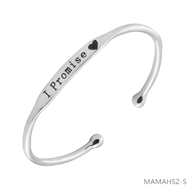 Silver Cuff Bracelet Bangle Promise Fashion Women Jewelry