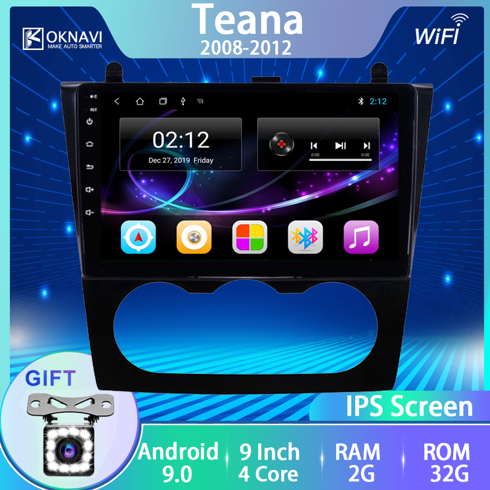 For Nissan Teana Altima Car Radio Android 9.0 Stereo DVD Player 2008-2012 Touch 9 Inch Screen Bluetooth Gps Navigator Tourism