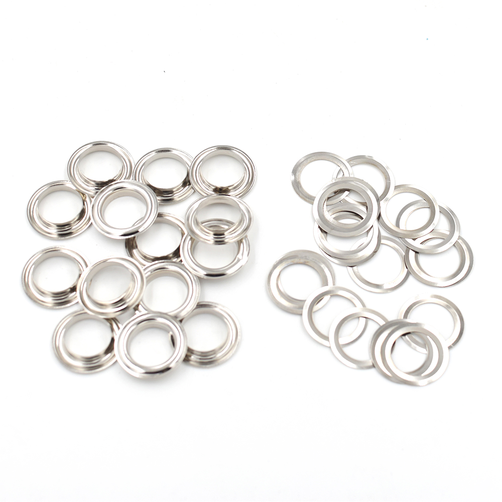 50 sets Eyelets Inner diameter1 8mm eyelets Metal hole Metal rope hole Button MoldsButton tools Snaps Hollow rivets