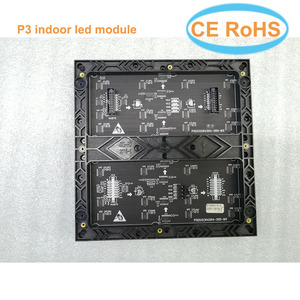 Image 1 - Hot sale P3 led module 64*64 pixels smd2121 indoor 192*192mm 32scan full color led matrix P4 P5 P6 P10 led sign board panel