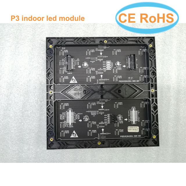 Hot sale P3 led module 64*64 pixels smd2121 indoor 192*192mm 32scan full color led matrix P4 P5 P6 P10 led sign board panel