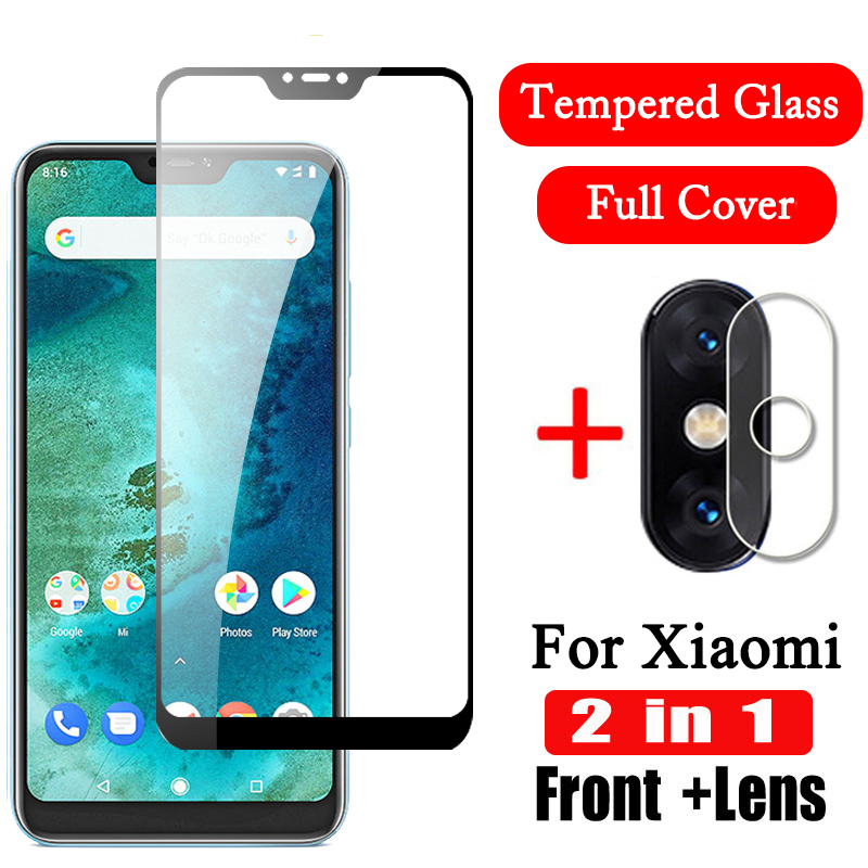 2 In 1 9D Camera Tempered Glass For Xiaomi Mi A2 Lite Screen Protector Mi A2 Lens Film Protective Glas Xiomi MiA2 Light MiA2Lite