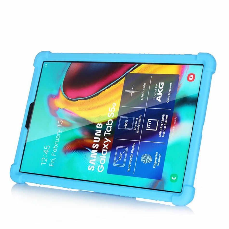Kasus untuk Samsung Tab S5e 10.5 2019 Tablet Cover Funda Tab S5e 10.5 SM-T720 SM-T725 Silikon Lembut Pelindung Seluruh Badan stand Shell
