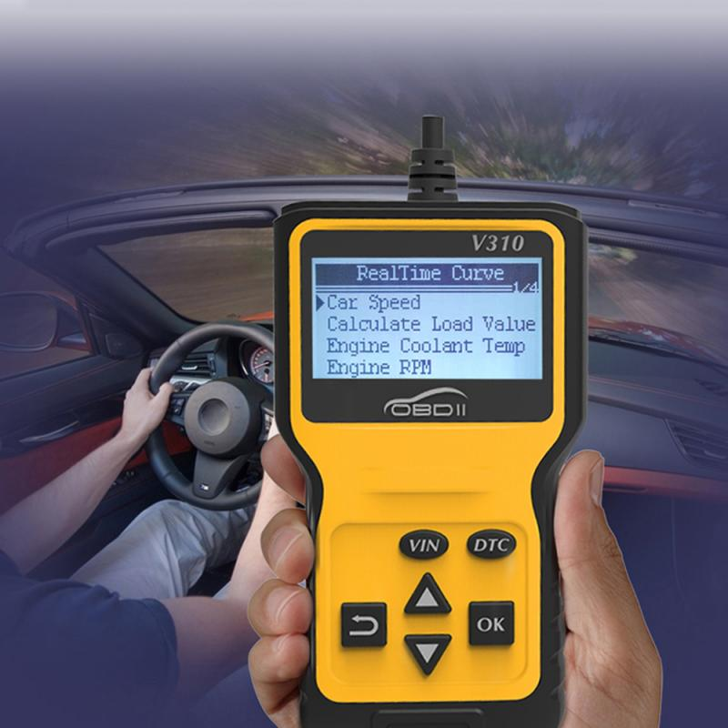 V310 OBD Fault Code Reader Scan Tool OBDII EOBD Read DTC OBD 2 OBD2 Car Diagnostic Auto Tools scanner VS ELM327 V