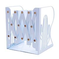 Cactus Metal Retractable Bookends Support Stand Holder Shelf Bookrack Organizer|Bookends| |  -