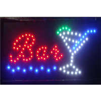 Bar Led Open Neon Sign 10x19 inch Anitmated running Pub Tiki Bar Wine Bar Cocktails Store Business Open Led Signs