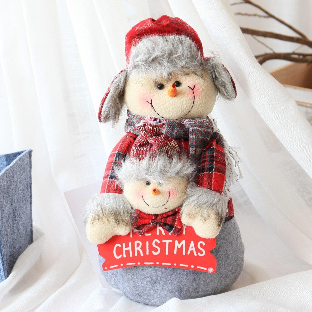 Peluche 46cm père noël grand tissu poupée poupée cadeau de noël - 2