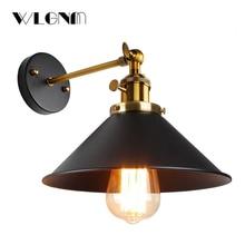 ヴィンテージ壁ランプ、屋内照明、ノブスイッチウォールライト、レトロ бра 、黒 & 白カバー、ベッドサイドのランプ、 E27 、ホーム & 店