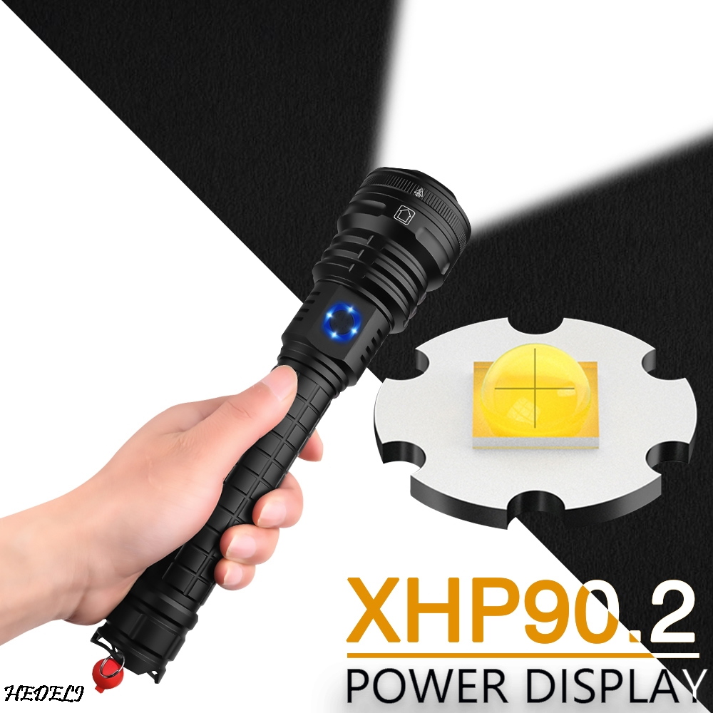 Rechargeable 2000 Lumens xhp70 Most Powerful LED Flashlight USB Zoom Torch Use