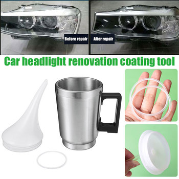Car Headlight Renovation Atomizing Cup Set Evaporation Heating Cup Lid Tool Refurbished Atomizing Cup Restoration Of Headlights image