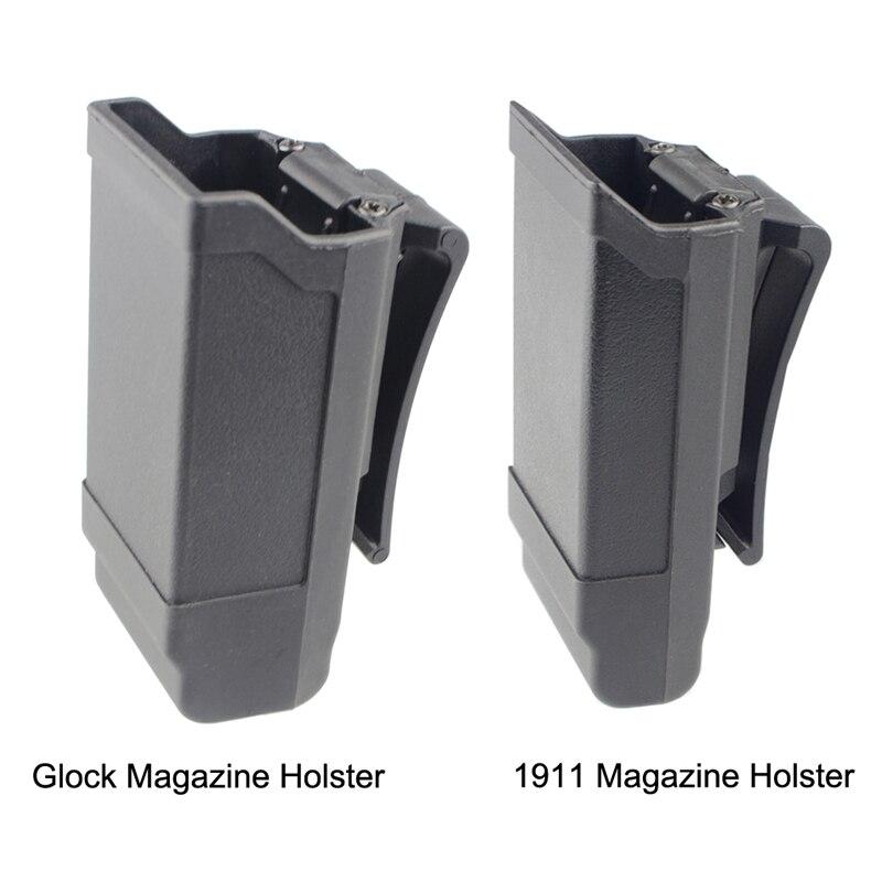 Cqc revista coldre arma tático titular mag para glock 17 19 18 ou 1911 calibre revista caça acessórios mag bolsa