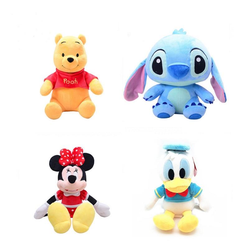 Disney Plush Toy Story 4 Plush Doll Cartoon Mickey Mouse Donald Duck Mickey Minnie Doll Children's Birthday Gift 22Cm 40Cm