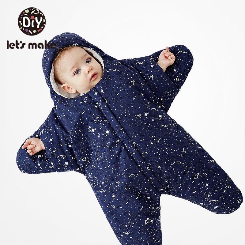 Let'S Make 1Pc Cotton Cartoon Starfish Babies Sleeping Bags Newborn Baby 0-3 Months Baby Blanket Swaddling Wrap Sleepsack
