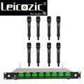 Leicozic профессиональный беспроводной микрофон UHF PLL 8 каналов живой вокал беспроводной микрофон 8 ручной передатчик Microfone
