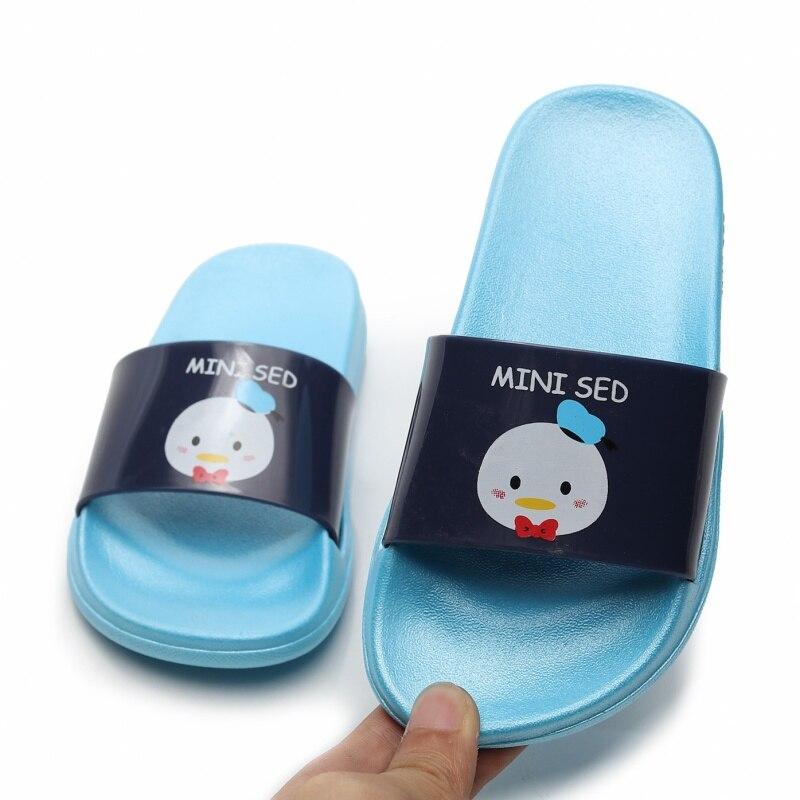 MINI SED Children Slippers For Girls And Boys Summer Sandals Kids Bathing Shoes Non-slip Home Bathroom Shower Slippers