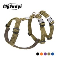 MySudui Truelove Double H Adjustable Pet Dog Harness Training Escape Proof Dog Belt Safety Run Walking Dog Strap Harness Soft