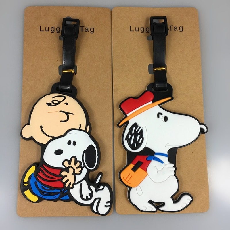 New Cute Dog Shinubi Suitcase Animal Luggage Tags ID Address Holder Mermaid Luggage Label Travel Accessories  Suitcase Bag Tag