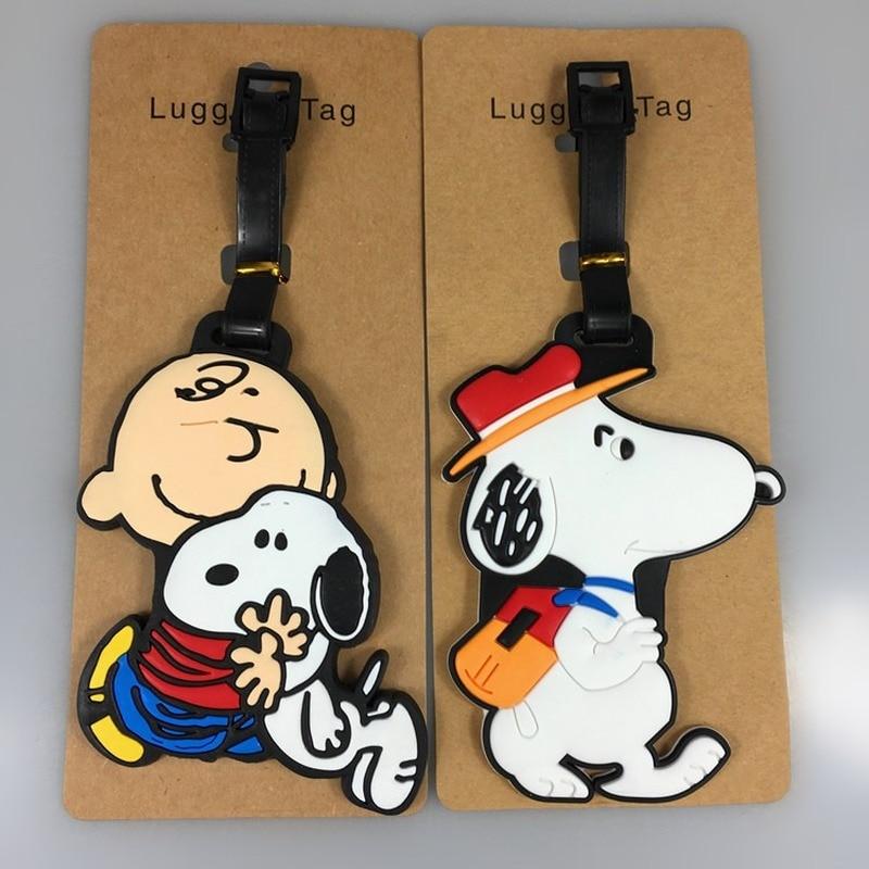 New Cute Dog Shinubi Suitcase Animal Luggage Tags ID Address Holder Mermaid Luggage Label Travel Accessories  Suitcase Bag Tag