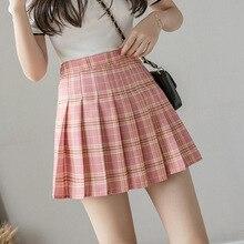 Fashion 2021 Kawaii Summer Women Skirts High Waist Cute Sweet Girl