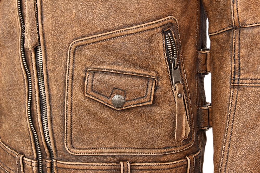H409b4f798e1a461c890e6cf775d8d708D Vintage Motorcycle Jacket Slim Fit Thick Men Leather Jacket 100% Cowhide Moto Biker Jacket Man Leather Coat Winter Warm M455