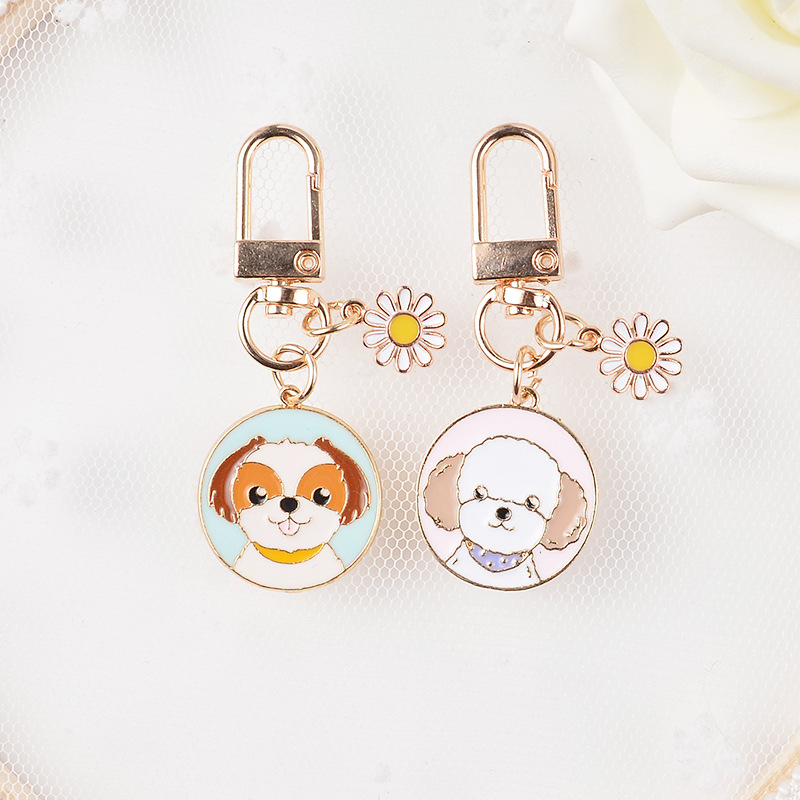 New Alloy Cute Puppy Dog Keychain Pendant Boys and Girls Bag Ornaments Party Exquisite Gifts Small Accessories