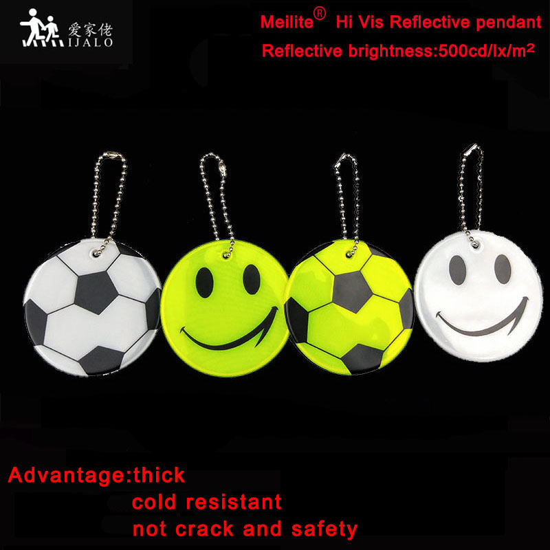 Meilite Reflexite Material 500 Candle Lights Soft Pvc Reflector Reflective Keychain Bag Pendant Accessories  For Traffic Safety