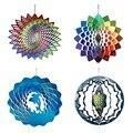 Ветряные колокольчики из нержавеющей стали, ветряной Спиннер-3D домашний Настенный декор, благословение, защита, подарок, красочное украшен...
