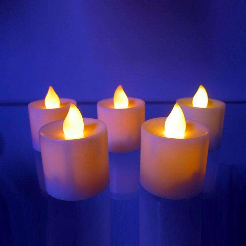 1 шт. Креативный светодиодный многоцветная Лампа-свеча имитация цвета пламени для дома, свадьбы, дня рождения, фестивальные декорации