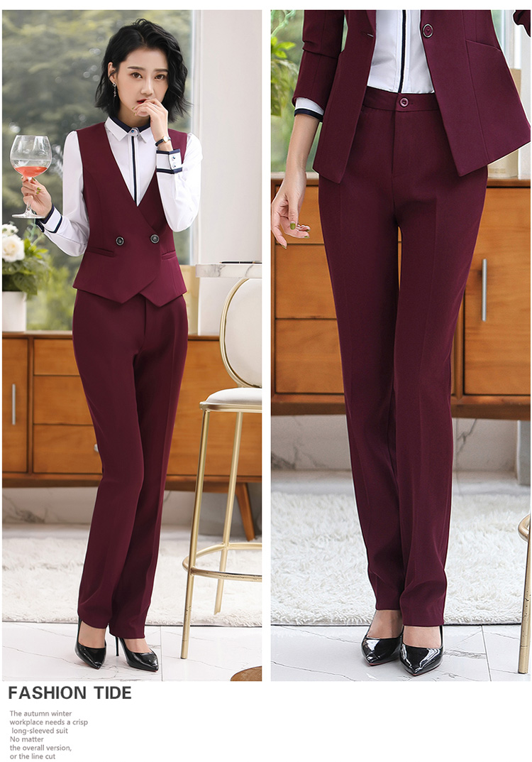 H409c02b84f2c4076813ff4e7f9581dccn - Autumn Business Casual Long Trousers Women Solid Black Blue Red Formal Pants Office Ladies Work Wear Straight Suit Pant 4XL