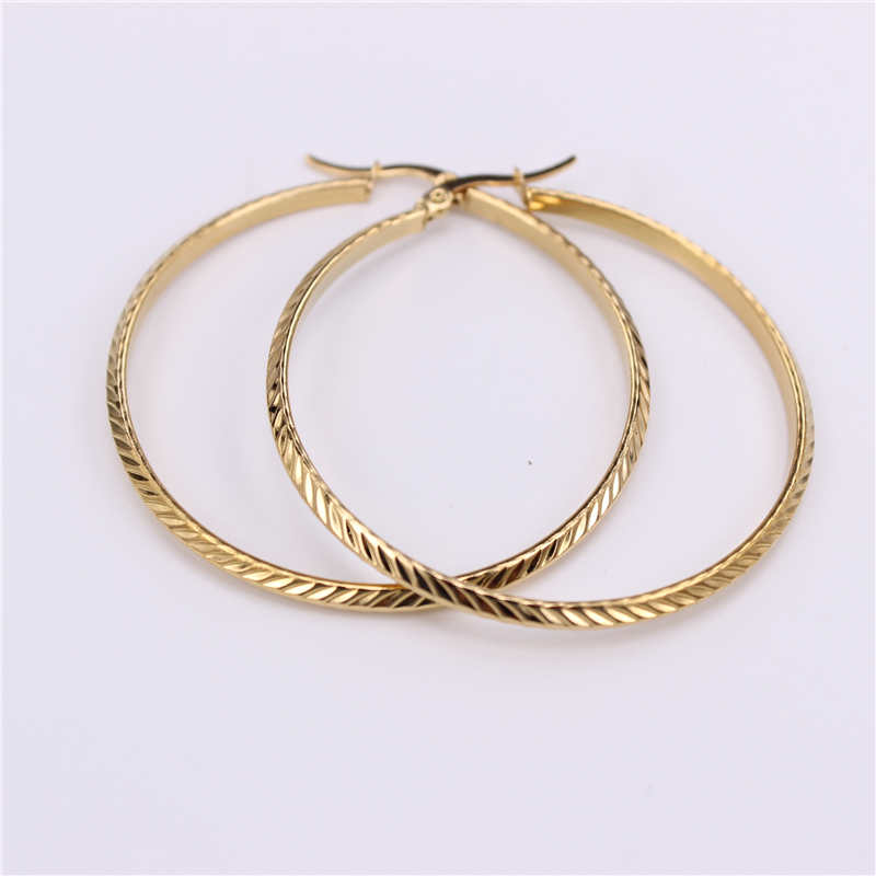 48mm <font><b>Twill</b></font> <font><b>Skirt</b></font> collocation Stainless steel Hoop earrings Prom Fashion Gift Cute and exaggerated SL67 image