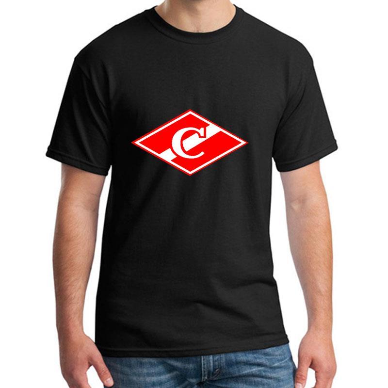 Graphic Spartak Soviet Football Club Sport Ussr Red Russia Tshirt For Men Cotton Comics Leisure Gents Tshirts O-Neck Slogan