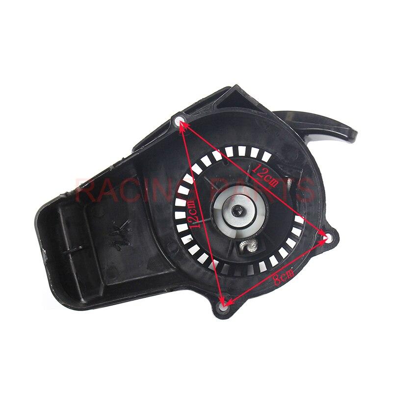 Black Plastic 49cc pocket bike Pull Starter Easy Start For 2 stroke engine accessories Mini Motorcycle Chopper dirt quad ATV