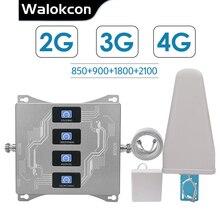 2G 3G 4G Quad Band Booster Voor Israël Nieuw zeeland 3G Cdma 850 2G Gsm 900 Dcs 1800 Wcdma 2100 Signaal Repeater 2G 3G 4G Versterker