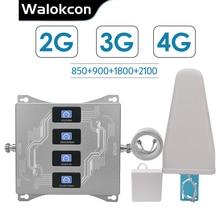 2g 3g 4g Quad Band בוסטרים עבור ישראל ניו זילנד 3g CDMA 850 2g GSM 900 DCS 1800 WCDMA 2100 אות משחזר 2g 3g 4g מגבר