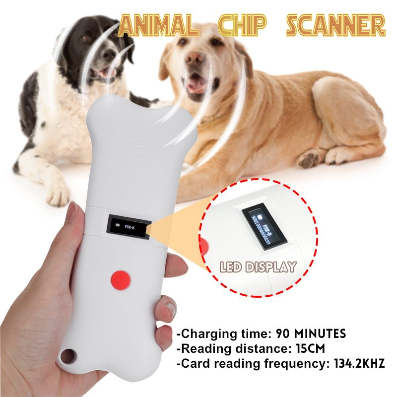Pet Scanner 134.2khz Animal Pet ID Reader Animal Chip Transponder USB RFID Handheld Digital Microchip Scanner for Dog Cat Horse