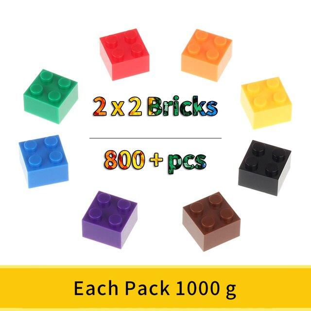 2x2 Классические кирпичи, небольшие строительные блоки, креативные сборочные городские кирпичи, технические игрушки для детей, Comaptible блоки маленького размера