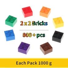Bloques clásicos 2x2, bloques de construcción pequeños, bloques creativos de ciudad, juguetes técnicos para niños, bloques de tamaño pequeño
